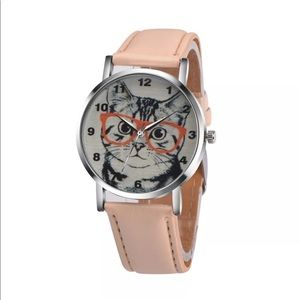 Accessories - New Analog Cat Watch Kitty Leather Wrist Quartz